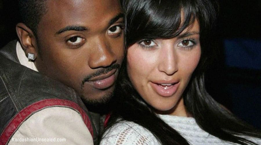 Ray J and young Kim Kardashian