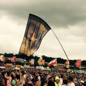 Glastonbury Concertgoer Flags an Explicit Banner of Kim Sucking Ray J