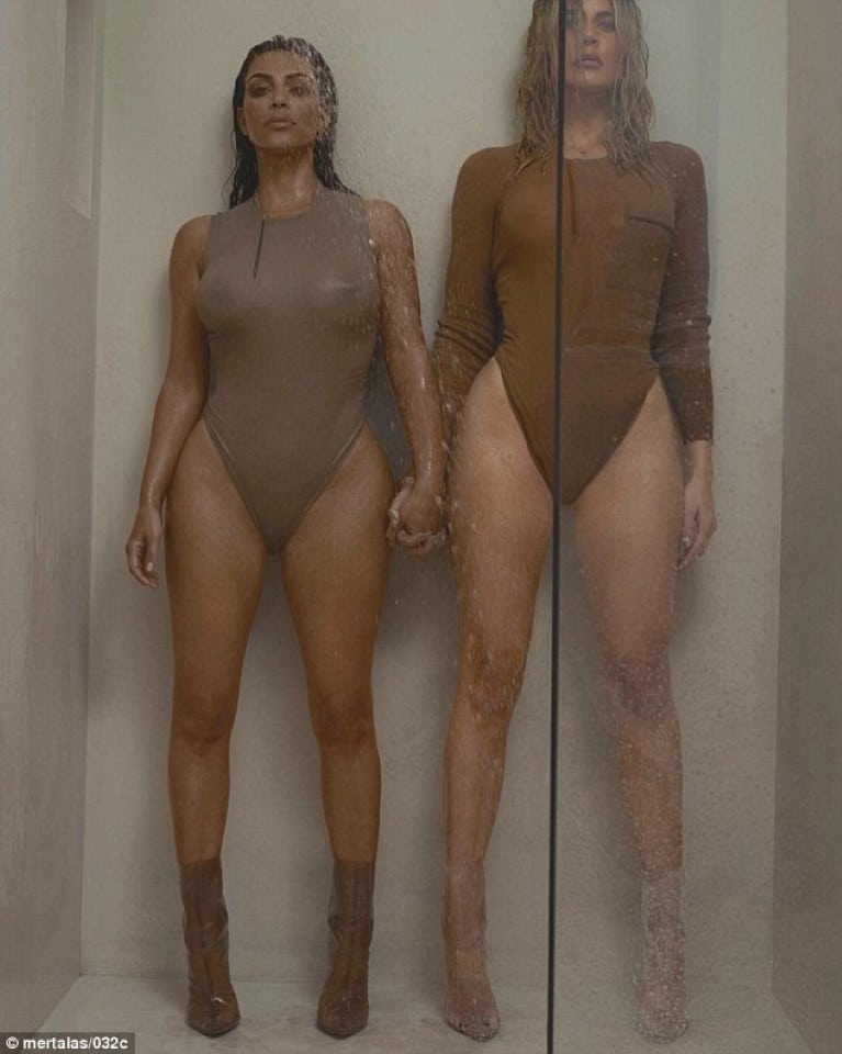 Kim K and her sister Khloe Kardashian see through outfit